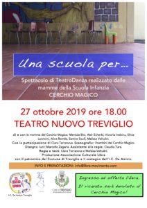 locandina UNA SCUOLA PER progetto mamme teatro Cerchio Magico